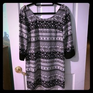 Cute black and white patterned dress